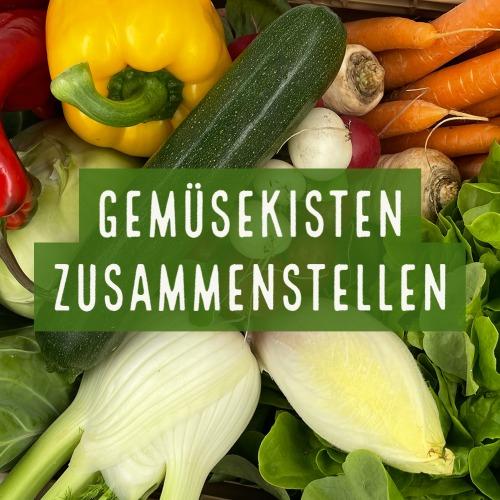 Gemüsekisten zusammenstellen